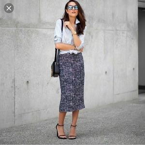 Who What Wear black and white pencil skirt